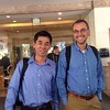 "All set for customer visit, Meng Cher and Scott with matching IBM ""uniforms"""