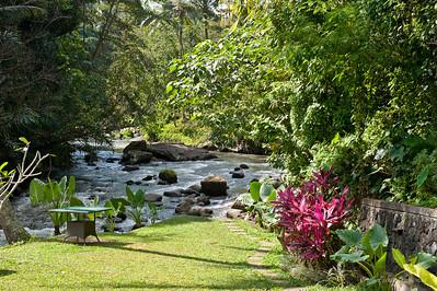 возле отеля течет речка