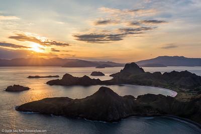 Padar Island sunset