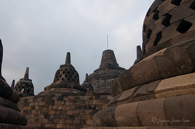 Stupas at Borobudur temple