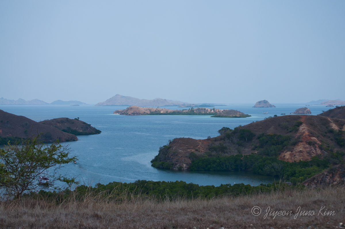 The view of Komodo national park