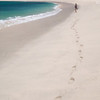 Some of the beautiful beaches on the south shore of Lombok see so few visitors that the sand is devoid of footprints.