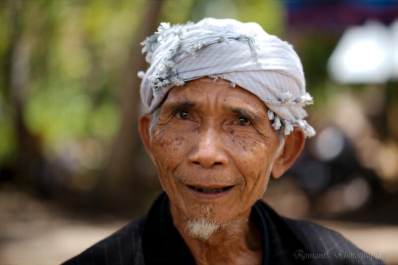 A Sasak gentleman poses for his portrait.