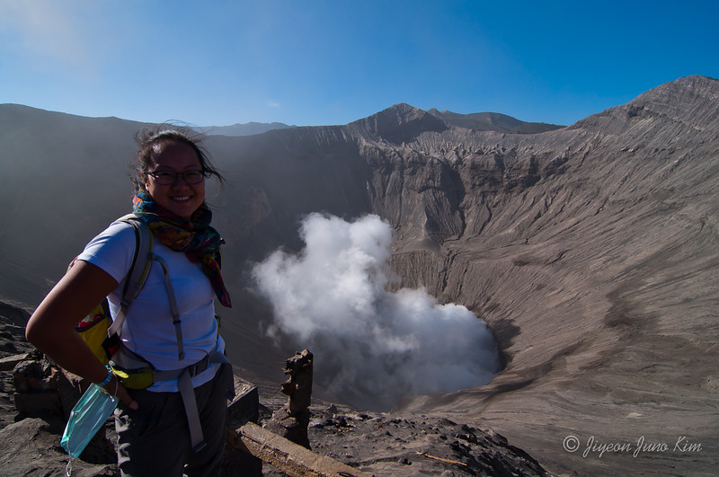 Looking down Mt.Bromo