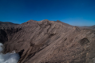 On the edge of Mt Bromo, the active volcano.