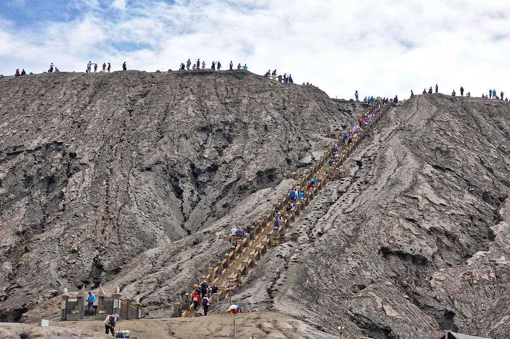 Mount Bromo Stairway to Crater