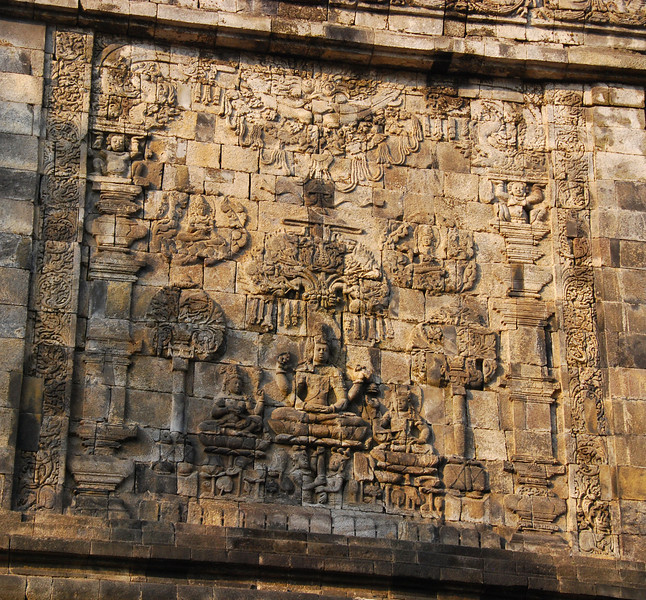 Mendut Temple,  nr Borobudur,  Java