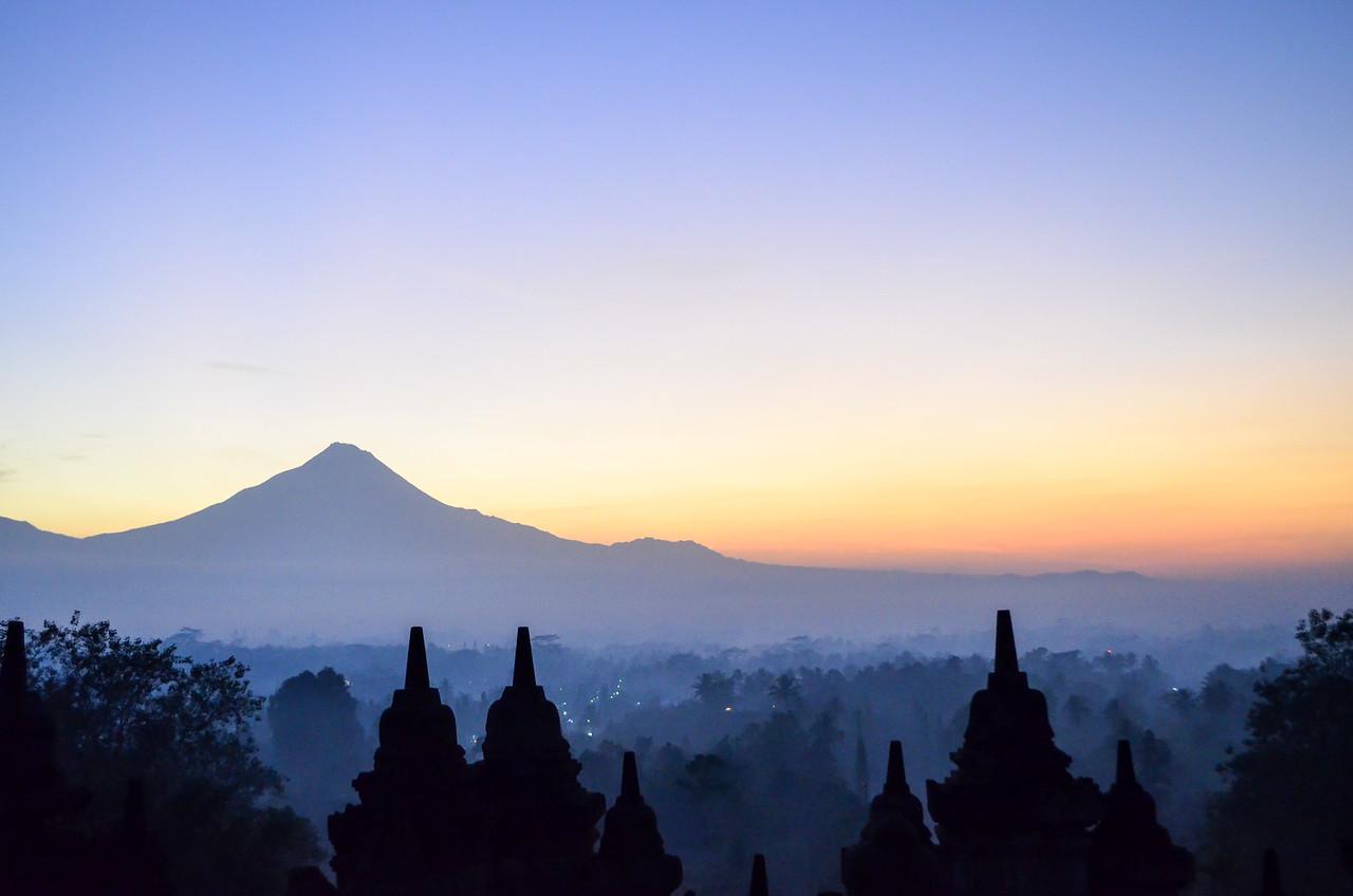 Volcano at dawn
