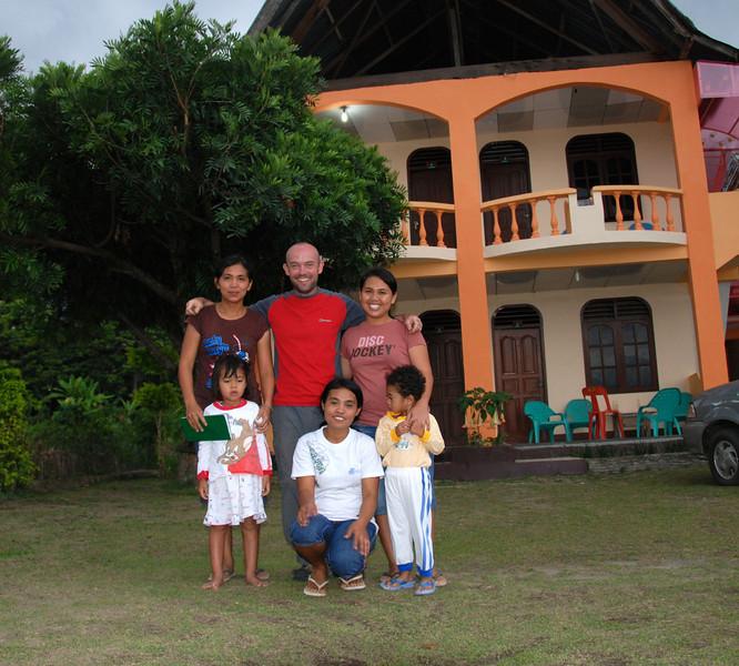 With Jojo and Barbara,  Samosir Island,  Sumatra