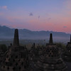 The stupas at Borobudur