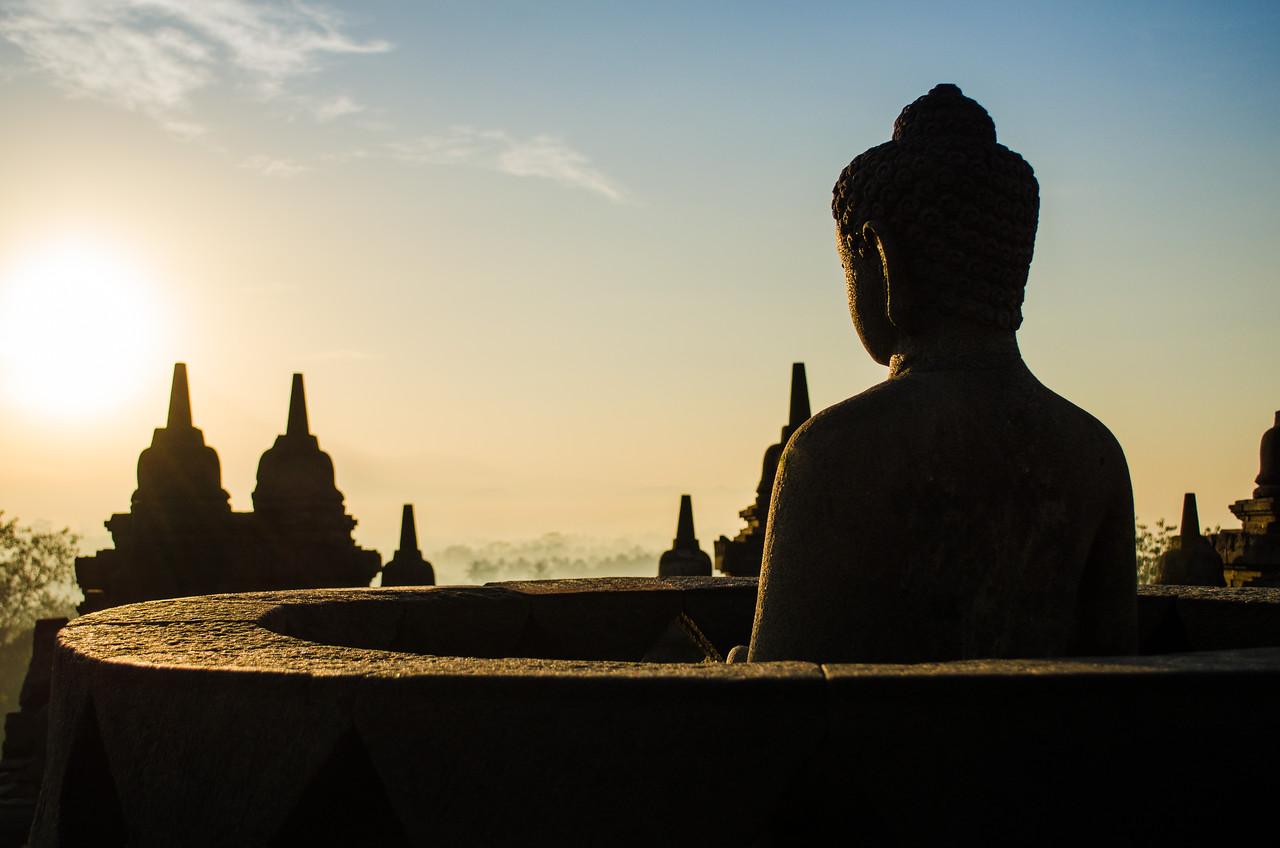 Buddha in the morning sun