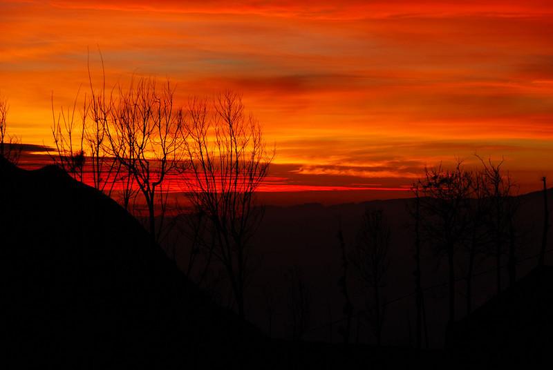 Sunrise over Cemoro Lawang,  Gunnung Bromo,  Java