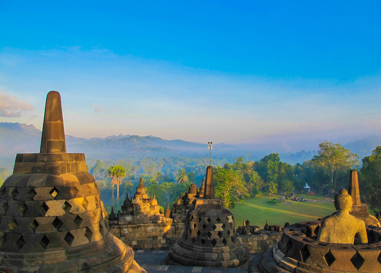The amazing Borobudur temple in Indonesia