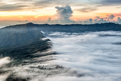 Foggy Morning at Mount Bromo