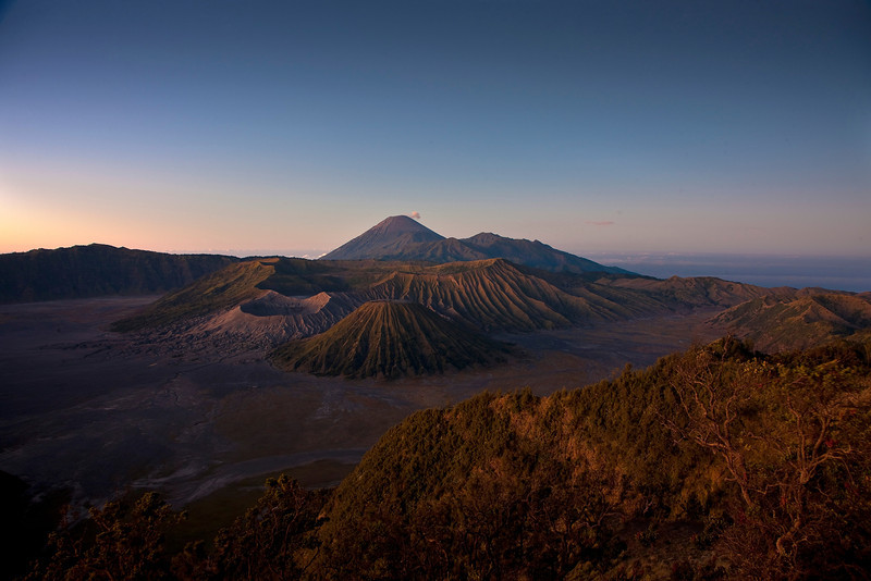 This is Mount Bromo, and active volcano.