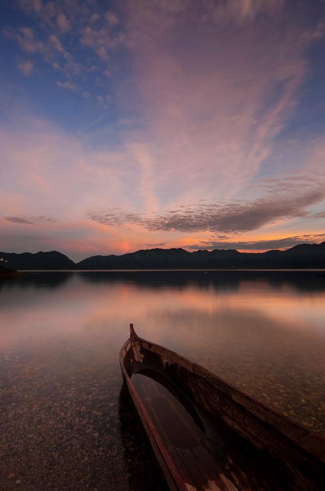 Early morning at Lake Maninjau.