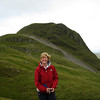 Angela on descent from Ben Hiant, Ardnamurchan