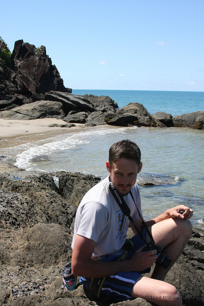 Craig at Etty Bay, waiting for the next exciting event to occur