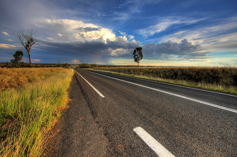 Outback Queensland. This was along the inland route back to Brisbane. Photo by Trent Williams