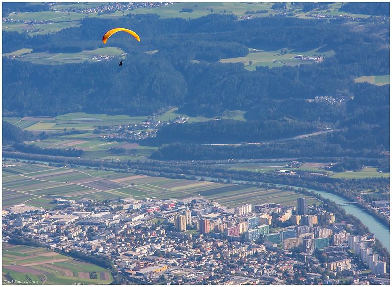Paraglider Above Innsbruck