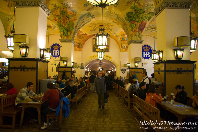 Munich, Germany - Inside the Hofbrauhaus. This is only a fraction of the building. If my memory serves me right, this place can hold 8,000 people at once.