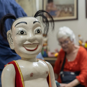 One of the water puppets we saw at the home we visited of the eater puppet maker