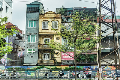 It is very common to find narrow houses in Vietnam like these we viewed driving through Hanoi