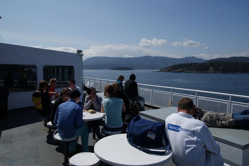 Outer sun deck.