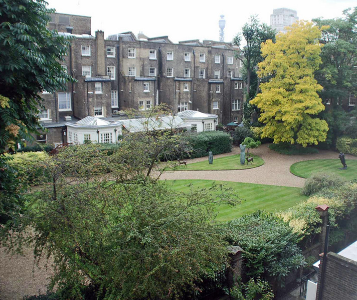 View from our window at the Beauchamp Hotel.
