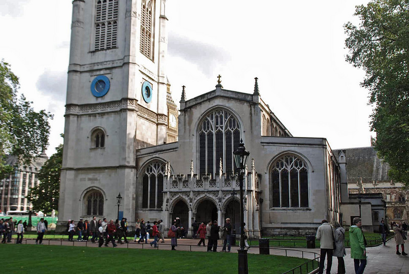 St. Margaret's Church on the grounds of Westminster Abbey.