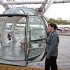A passenger capsule of the London Eye.