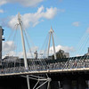 Hungerford Bridge and the Golden Jubilee Bridges.
