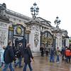The gates at Buckingham Palace.
