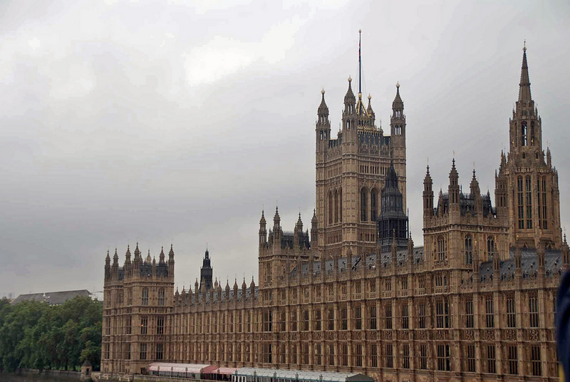 The House of Lords and the House of Commons (British Parliament) meets in the Palace of Westminster.
