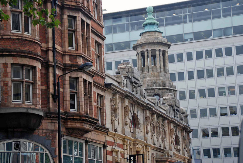 The tower on the top of the Shaftesbury Theatre which was opened in 1911.