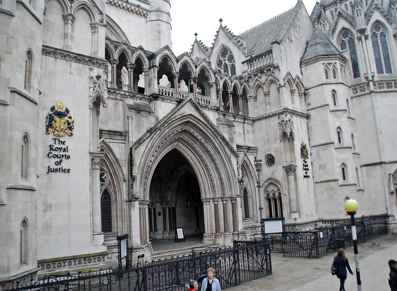 Entrance to the Royal Courts of Justice.