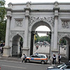 The Marble Arch, near Speaker's Corner in Hyde Park, was moved from Buckingham Palace to this spot in 1851.