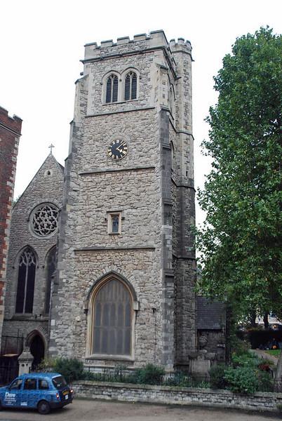 The parish church of St. Mary-at-Lambeth, adjacent to Lambeth Palace.
