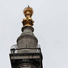 """The """"flame"""" atop The Monument doric column."""