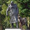 Statue of Winston Churchill in Parliament Square.