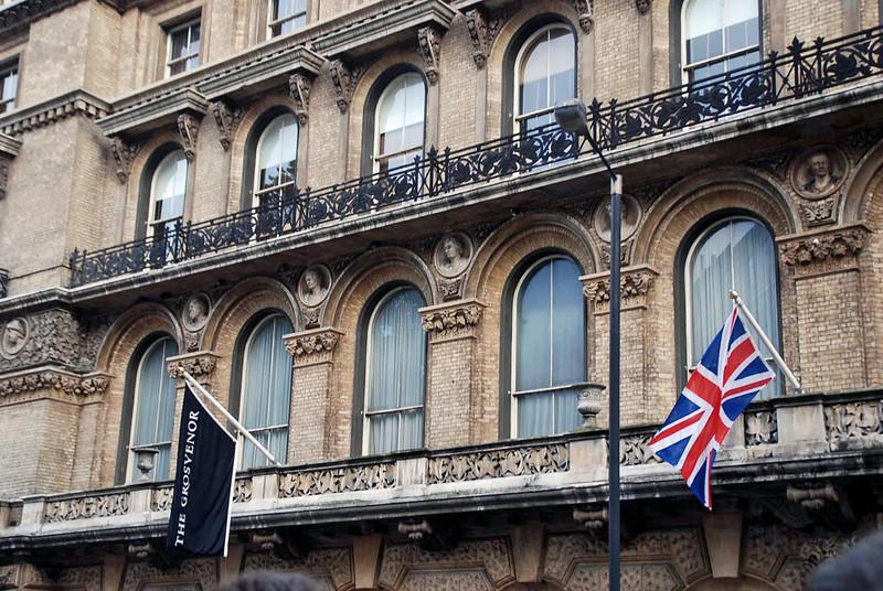 Facade of the Grosvenor Hotel.