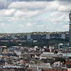 A view from the London Eye of the BT Tower, 620 feet tall, built in the 1960's.