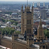 The Palace of Westminster seen from the London Eye.