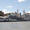 The HMS Belfast, a WWII light cruiser.