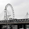 The London Eye (Hungerford Bridge and Golden Jubilee Bridges in foreground).
