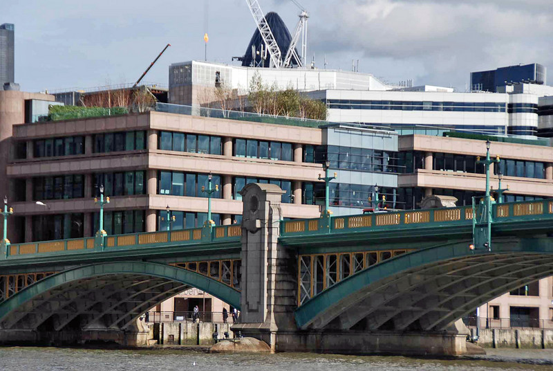 Southwark Bridge opened in 1921.