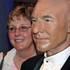 Jean poses with Captain Jean-Luc Picard at Madame Tussaud's.