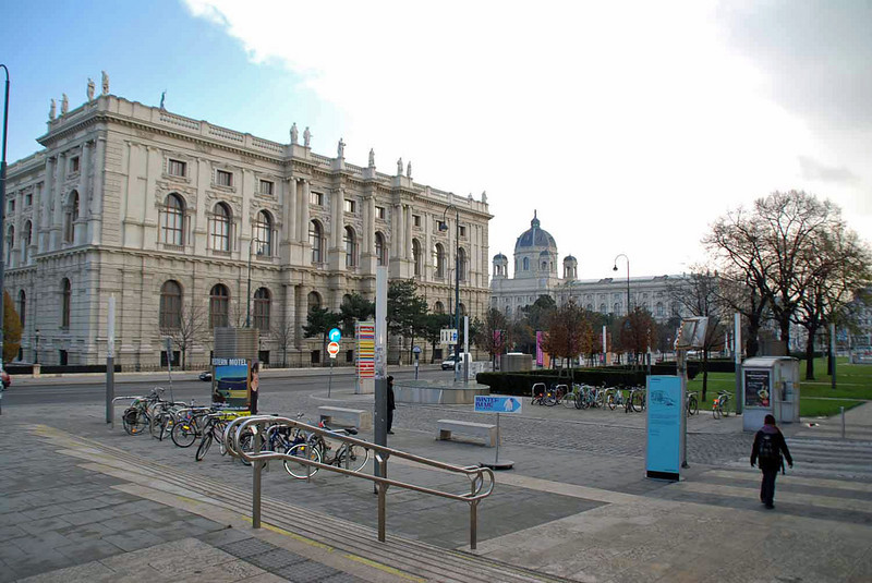 Looking towards Maria Theresa Platz from the Museum Quarter.
