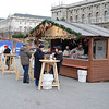 One of the food booths at the Christmas Festival.