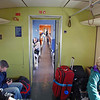 A view of the train cars on our way to Ulm.  We sat in a car with fold-down seats so that our bulky baggage could be out of the way.